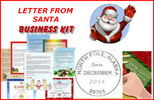 Letter from santa claus business kit
