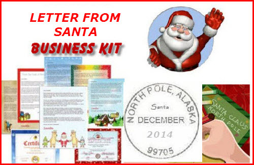 Product picture Letter from santa claus business kit