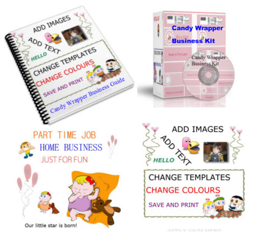 Product picture CANDY WRAPPER BUSINESS KIT AND EXTRAS